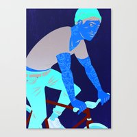 Bicycles & Tattoos Canvas Print