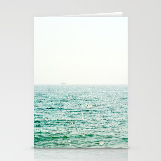 Ocean Ghost Ship Stationery Card