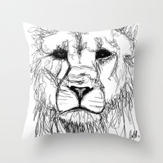 Gesture Lion Throw Pillow