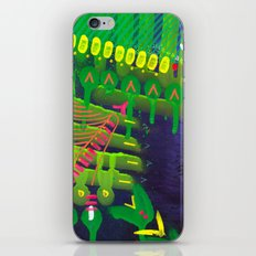 Wave green iPhone & iPod Skin