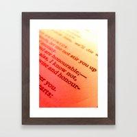 Words Number 7 Framed Art Print