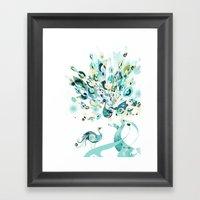 2 Peacocks Framed Art Print