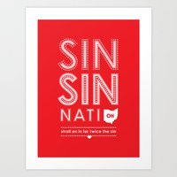 Locals Only — Sinsinnati, OH Art Print