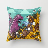 Atomic Fire Attack GO! Throw Pillow