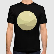 Minimal Meadow Day SMALL Black Mens Fitted Tee
