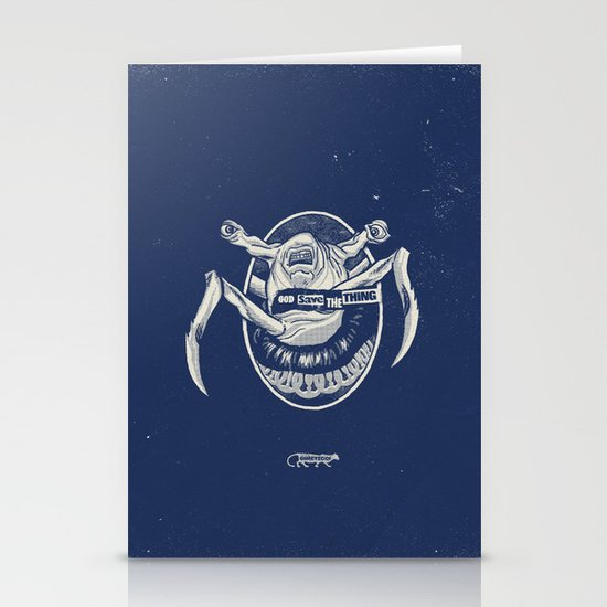 God Save the Thing Stationery Card