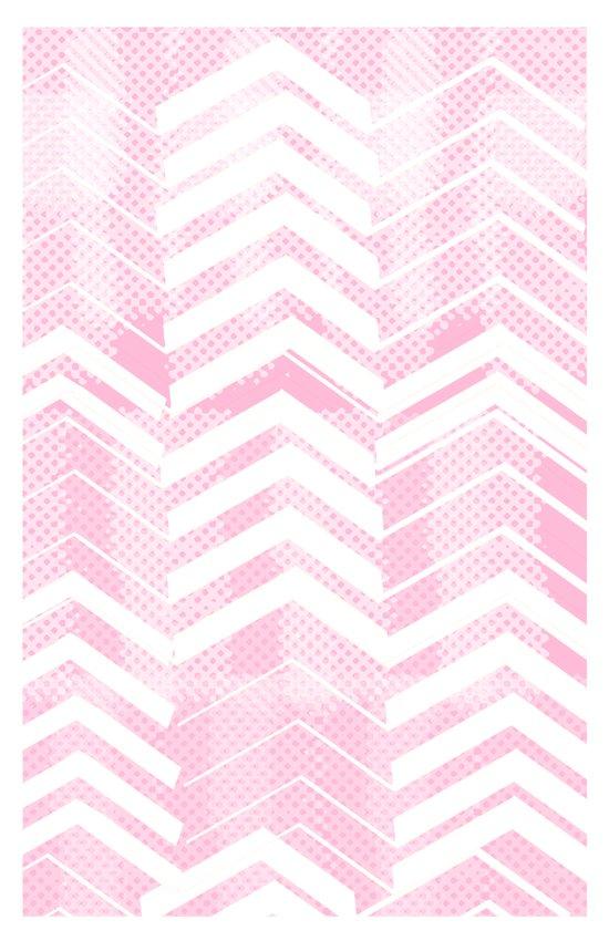 Pretty in Pink Chevron Canvas Print