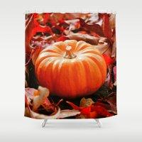 Samhain pumpkin Shower Curtain