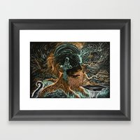 Glow Worms Framed Art Print