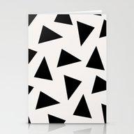 Black Triangle Pattern I… Stationery Cards