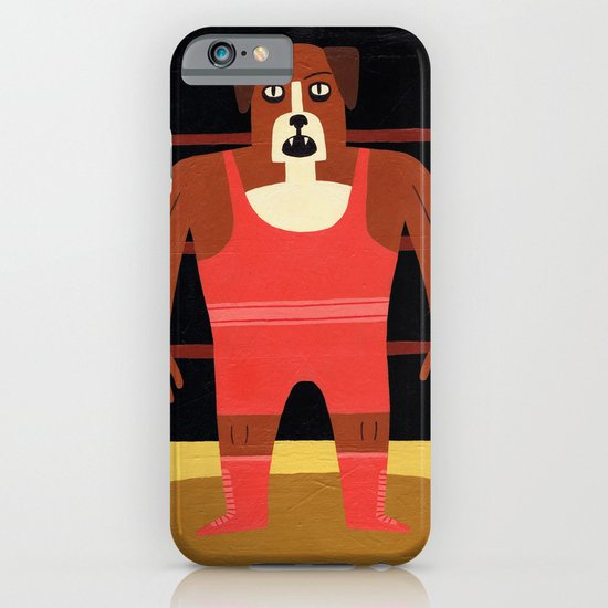 Dog Wrestler iPhone & iPod Case