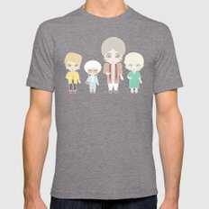 Girls in their Golden Years Mens Fitted Tee Tri-Grey SMALL