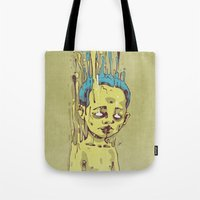 The Golden Boy with Blue Hair Tote Bag