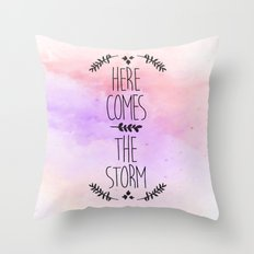 Here comes the Storm Throw Pillow
