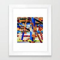Brandon (stripes 1) Framed Art Print