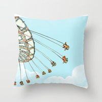 La Fete Foraine Throw Pillow