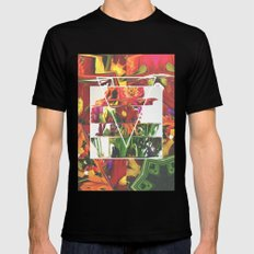 Fake Flowers Black SMALL Mens Fitted Tee