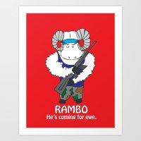 Rambo  Art Print