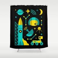 Cosmos Set Shower Curtain