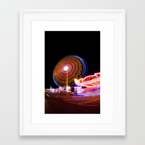 Circuitous & Looming Large Framed Art Print