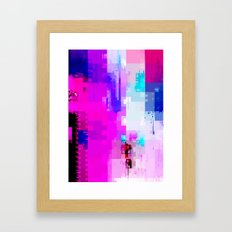GLITCH ART 8 Framed Art Print