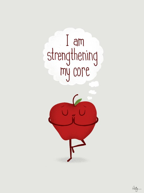Apple Core Workout Art Print