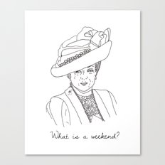 Dowager Countess of Grantham Canvas Print