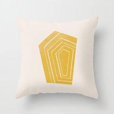 Geode II - in Citrine Throw Pillow