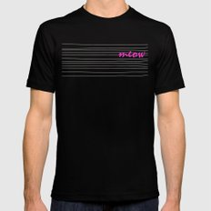 meow Mens Fitted Tee Black SMALL