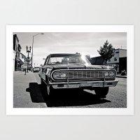 Roadside El Camino Art Print