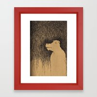 Fading Slowly Framed Art Print