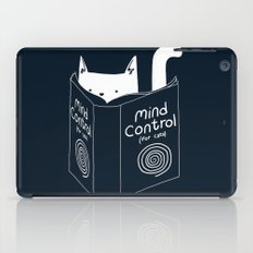 Mind Control For Cats (dark blue) iPad Case
