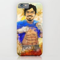 iPhone Cases featuring Manny Pacquiao - Pound 4 Pound by Fresh Doodle - JP Valderrama