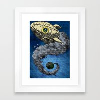 Bye bye (variation) Framed Art Print