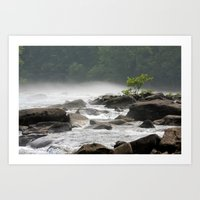 Summer Gauley River Fog Art Print
