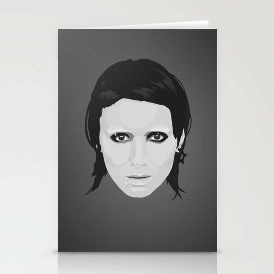 Lisbeth and Mikael / The Girl with the Dragon Tattoo Stationery Card
