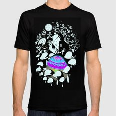 alice in wonderland Mens Fitted Tee SMALL Black