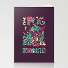 The Pug zombie Stationery Cards