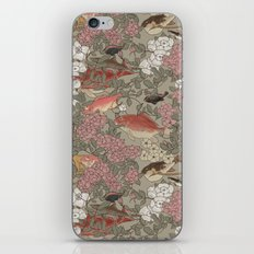 Fishes & Flowers - Seamless pattern iPhone & iPod Skin