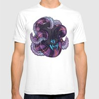 Tentacles and skulls Mens Fitted Tee White SMALL