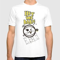 Beach Spike_Hit Me Baby Mens Fitted Tee White SMALL