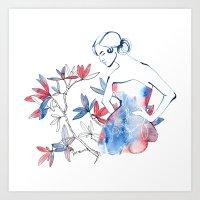 bonjour mademoiselle Art Print