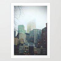 Gorilas En La Niebla Art Print