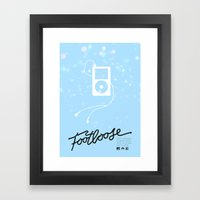Footloose (2011) - minimal poster Framed Art Print