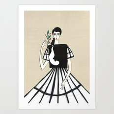 Henri Matisse inspired fashion Art Print