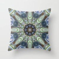 Colorful Glass Ornament Throw Pillow