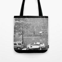 Rainy NYC Sidewalk Tote Bag