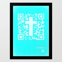 QR Cross Art Print