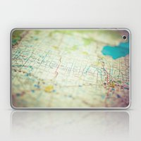 Road Map Of Michigan Laptop & iPad Skin