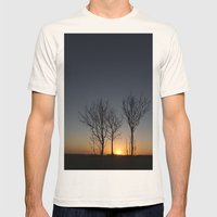 Three tress Mens Fitted Tee Natural SMALL